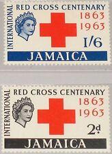 JAMAICA JAMAIKA 1963 205-06 203-04 100th Ann Intl. Rec Cross Rotes Kreuz MNH