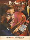 1964 Vintage ad for Budweiser beer retro bottle Photo man   091020
