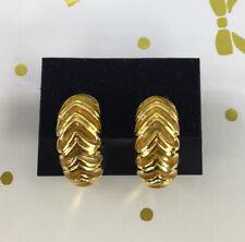 VINTAGE GOLD CITRINE SEMI-LOOP CLIP EARRINGS
