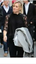 Zara  Lace Shirt With Kimono Sleeves Size M Uk 8/10 Celebrities Bloggers Fav