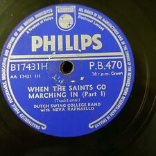 78 rpm DUTCH SWING COLLEGE BAND when the saints go marching in