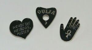 Silver Dark Gothic Design Enamel Brooch Pin Badge