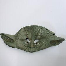 Vintage Star Wars 1980s YODA Halloween Rubber Mask Lucas Films