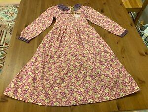 Vintage April Cornell Girls 7/8 Pink & Lavender Maisey BQ Dress NWT MSRP $79