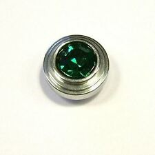 Mooduli Ring Schraube Aufsatz Strass grün  rund Wechselring  M-501011