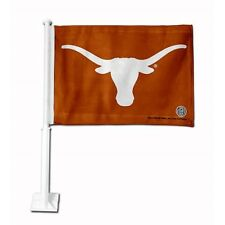 "Texas Longhorns Car Window Mount Flag NCAA Burnt Orange Double-Sided Logo 11x14"""