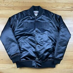 Mitchell & Ness Green Bay Packers NFL Bomber Jacket Button Up Throwback Men's L
