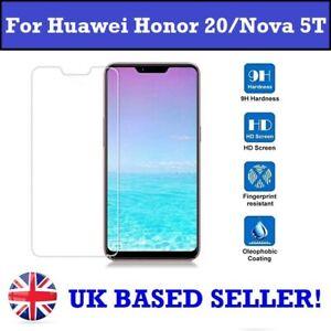 100% Genuine Tempered Glass Screen Protector for Huawei Honor 20 Nova 5T YAL-L21
