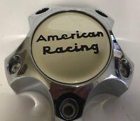 ONE USED AMERICAN RACING CHROME 6193-1215-CAP CUSTOM Wheel Center Rim CAP 2552