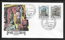 ITALY 1976 FIRST DAY COVER FOUNTAIN TYPES ANTIQUE GALLIPOLI AND MADONNA VERONA