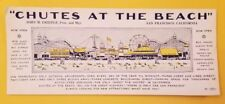 Antique 1920's San Francisco Playland At The Beach 'Chutes At The Beach' Blotter