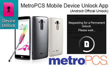 METROPCS DEVICE UNLOCK APP RESTRICTED FRU/RSU SUPPORTED