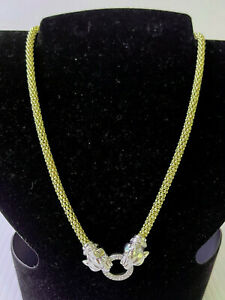 MIA FIORE ITALY .925 STERLING SILVER DYADEMA DOUBLE PANTHER NECKLACE