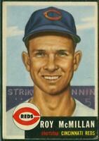 1953 Topps, Card #259 HI#, Roy McMillan, Cincinnati Reds