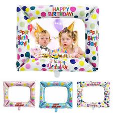 Photo Frame Shape Aluminium Foil Balloon Kids Toys Happy Birthday Party Decor