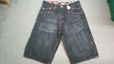 COOGI Mens JEANS SHORTS, waist size 36, Geometric Designs Back Pockets, GUC