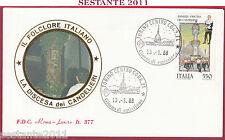 ITALIA FDC ROMA LUXOR SASSARI DISCESA DEI CANDELIERI 1988 TORINO Z275