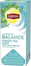 Lipton Green Tea with Mint 6 Boxes Enveloped Teabags