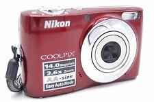 Nikon COOLPIX L24 14.0MP 3'' SCREEN 3.6X Digital Camera - RED