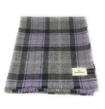 Pure Wool Tweed Blanket/Bedspread/Throw Grey Lilac Check PlaidPure Wool Tweed