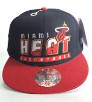 NBA Miami Heat Hat Cap Mitchell Ness Snapback 2 Color Tone One Size New