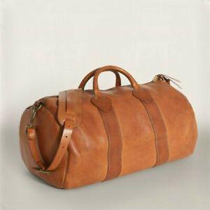 Double RL Ralph Lauren RRL Leather Rockport Duffle Traveling Bag