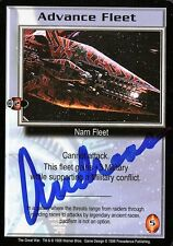 BABYLON 5 CCG Card Andreas Katsulas (1946-2006) Advance Fleet AUTOGRAPHED