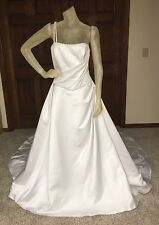 Zurc for Impression Wedding Dress Size 12 Womens White Beaded One Shoulder