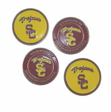 "USC TROJANS GOLF BALL MARKERS ""NEW"" 4 PACK COMBO PACKAGE DEAL"