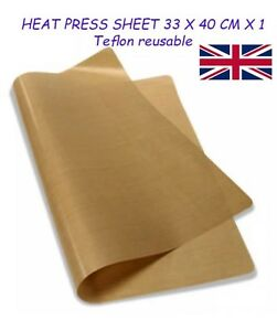 HEAT PRESS SHEET 33 X 40 CM X 1 - PTFE Teflon reusable *Sublimation *