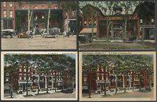 Cobleskill NY: Lot of Four c.1910-1940s Postcards HOTEL AUGUSTAN Main Street