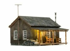 NEW WOODLAND Just Plug Built-&-Ready Rustic Cabin N SCALE BR4955