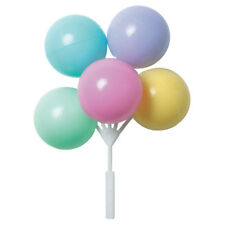 Pastel Colors Balloon Cake Topper Cluster - 4 Count