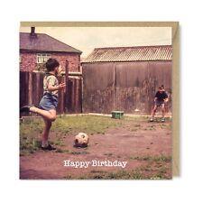 Funny  Unique Vintage Retro Football Birthday Card, Gift - Striker by Honovi