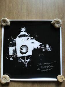 Original Fred Haise Apollo 13 autograph signed large 16x16 photo