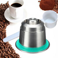 Coffee Capsule Pod Stainless Steel Reusable Refillable For Nespresso Machine US