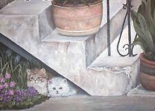 Oil Painting Cats Feline Kittens Realism 24x30 Original Fine Art by Guillemette