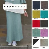 BRYN WALKER Light Linen  LONG  BIAS  SKIRT Slimming Tall XS S M L XL SPRING 2018