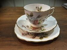 Vintage Royal Vale Rose ENGLISH China Trio. Cup, Saucer & Plate