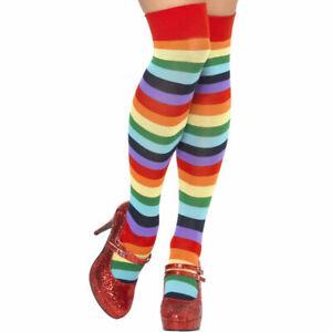 NEUF CHAUSSETTE CLOWN MONTANTE déguisement costume bal costumé carnaval années80