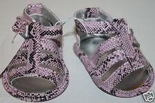 Koala Kids Infant Girls Pink Snake Skin Sandals Shoes Size 1 or 0-3 months Nwt