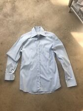Prada mans shirt  stretch cotton fitted shirt Sky Blue s 38  Excellent condition