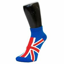 Red White Blue Union Jack Trainer Socks (3 PACK) (Size: 4-6)