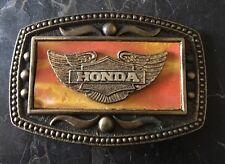 Vintage 60's HONDA MOTOR COMPANY Belt Buckle  Double Wing Logo