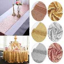 "Sequin Tablecloth Glitter Table Cloth Birthday Xmas Party Wedding Decor 47x71"""