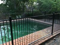 Certified Aluminium Flat Top Panel Tubular Fencing 1200 x 2400 for Swimming Pool