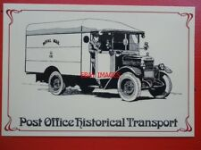 POSTCARD ROYAL MAIL POST OFFICE - MORRIS COMMERICAL 30CWT VAN