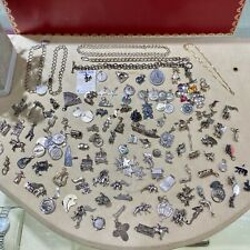 Lot of Sterling Silver 135 Charms .925 Jewelry Vintage and Modern 404 Grams
