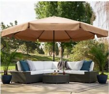 16ft Extra-Large Outdoor Patio Market Umbrella w/ Cross Bas