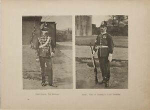 1893 PRINT SERGEANT-MAJOR 7th HUSSARS ~SERGEANT DUKE OF CORNWALLS LIGHT INFANTRY